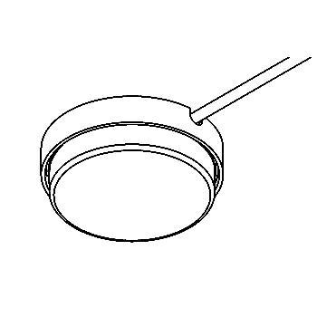 Drawing of 3063.ZA/.. - TOLEDO, opbouw plafond -of wandlicht - rond - zijdelingse kabelaansluiting