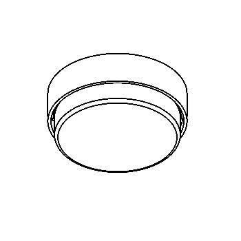 Drawing of 3064/.. - TOLEDO, opbouw plafond -of wandlicht - rond