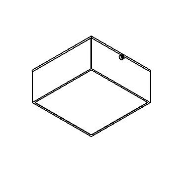 Drawing of 3069/.. - TOLEDO, opbouw plafond -of wandlicht - vierkant - vast