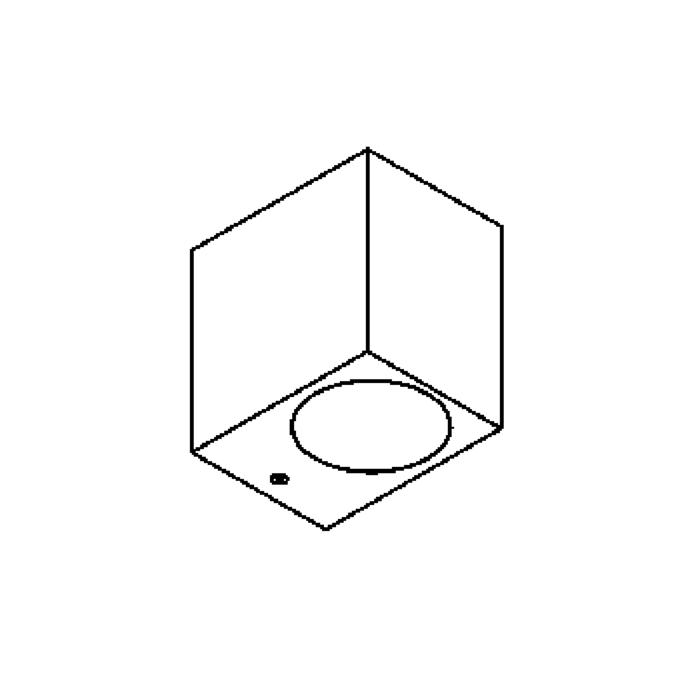 Drawing of 3081.10/.. - UNO, applique apparent - down - sans driver LED