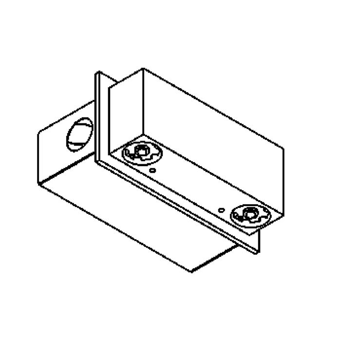 Drawing of 3096.MT/.. - FOYER, semi built-in and built-up wall light - with LED driver