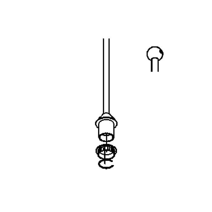 Drawing of 4001.G4.B3/.. - PIVA, hanglamp met bolgewricht - stang inkortbaar - zonder transfo