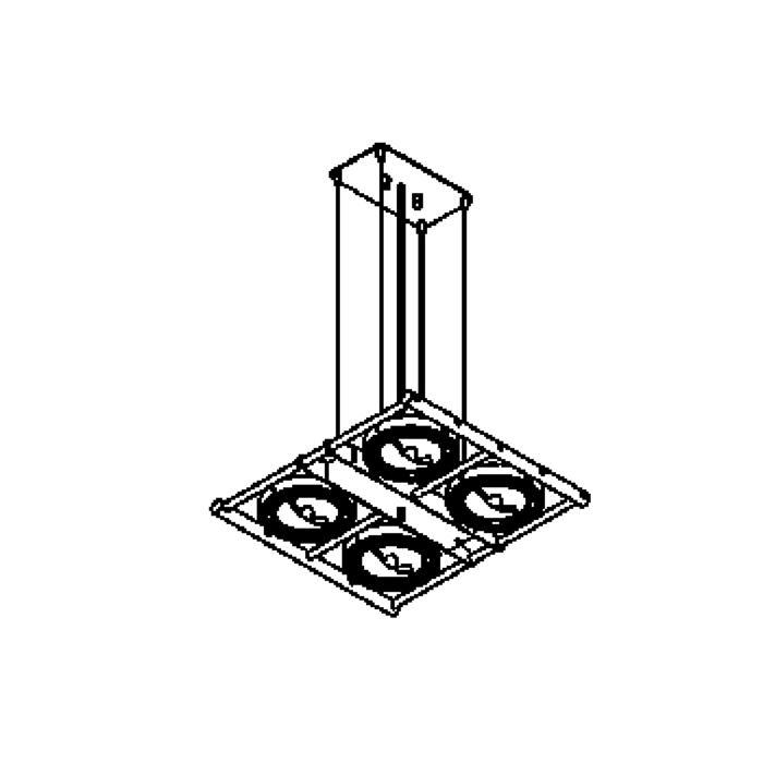 Drawing of 4007/.. - OPERA, hanglamp - richtbaar - met transfo
