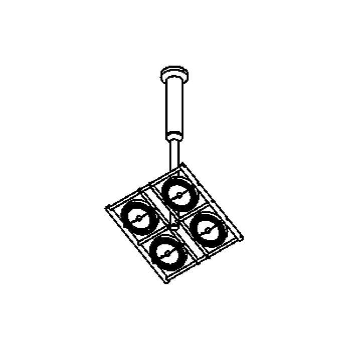 Drawing of 4009/.. - OPERA, plafonnier - orientable - sur tige - avec transfo