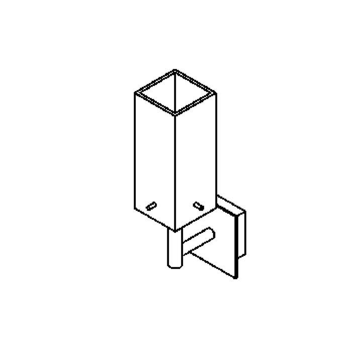 Drawing of 4025.W1/.. - MAX, opbouw wandlicht - met glas