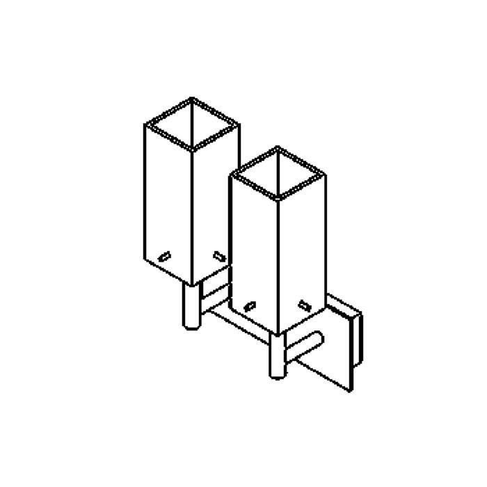 Drawing of 4025.W2/.. - MAX, opbouw wandlicht - up - met mat glas