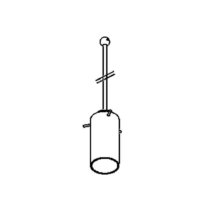 Drawing of 4027.B3/.. - GUILIA B, hanglamp met bolgewricht - stang inkortbaar - zonder transfo