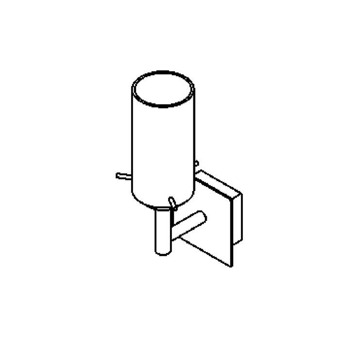 Drawing of 4027.W1/.. - GUILIA, opbouw wandlicht - met glas