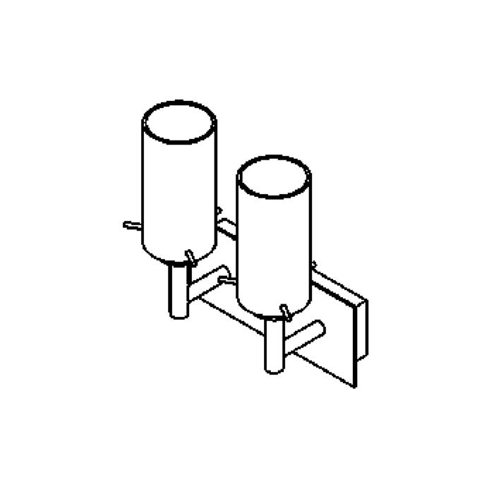 Drawing of 4027.W2/.. - GUILIA, built-up wall light - up - with glass
