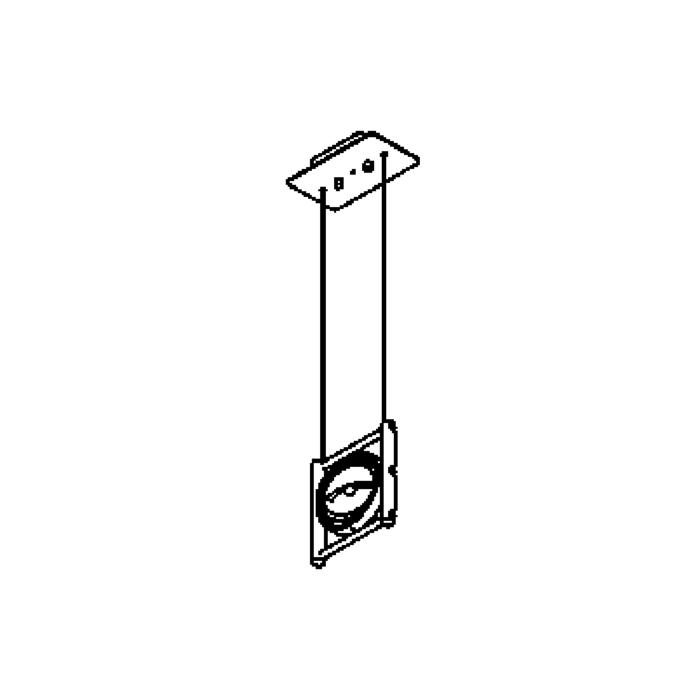 Drawing of 4041/.. - OPERA VERT., Pendelleuchte  - schwenkbar - mit Trafo