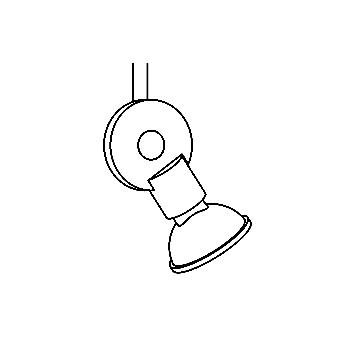 Drawing of 6005/.. - DISCUS 12V, spot apparent M10 - rond - orientable - sans transfo