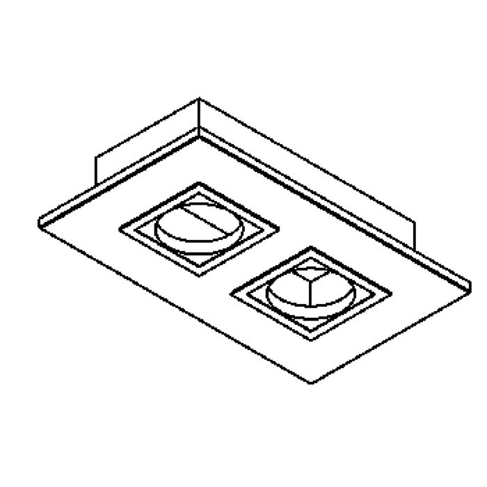 Drawing of 602.230V.75/.. - ZOOM CLICK II, ceiling light for built-in cassette SCS