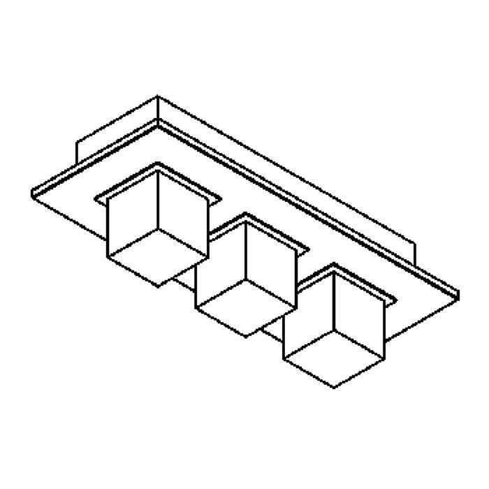 Drawing of 613.75/.. - ZOOM CLICK + VERA, plafondverlichting - met plexi