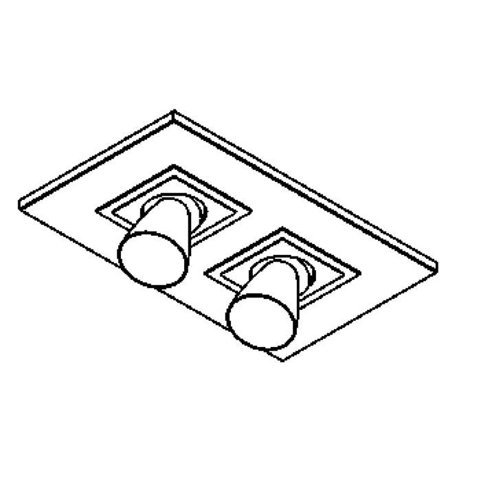 Drawing of 617.ES50.45/.. - ZOOM CLICK + VOLTA, opbouw plafondverlichting - richtbaar - kelk Ø65 H70