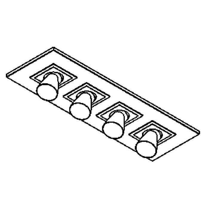 Drawing of 619.DICRO.45/.. - ZOOM CLICK + VOLTA, plafonnier apparent - orientable - calice Ø65 H70 - avec transfo