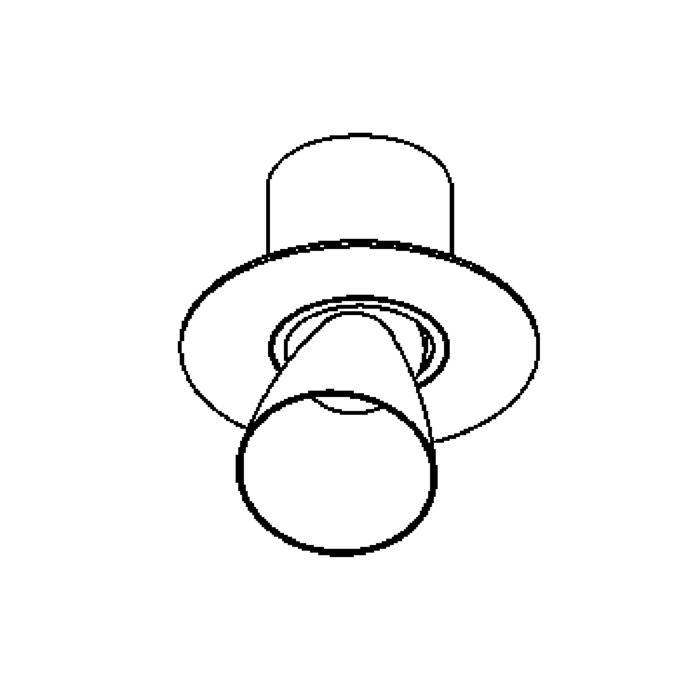 Drawing of 625.AR70/.. - CUPIDO I, opbouw plafondverlichting - richtbaar - kelk Ø78 H85