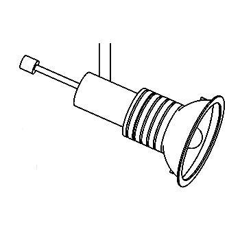 Drawing of 6450/.. - FOLIO 12V, opbouwspot M10 - rond - richtbaar - zonder transfo