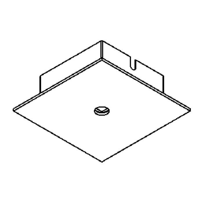 Drawing of 651/.. - TEXO, opbouwrozet - vierkant - geen plaats voor transfo
