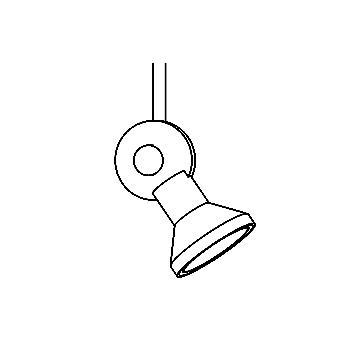 Drawing of 6930/.. - DISCOVERY 12V, Aufbaustrahler M10 - rund - schwenkbar - ohne Trafo