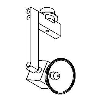 Drawing of 74.100/.. - CUBIC 12V, built-up spot M10 - square - directional - without transformer