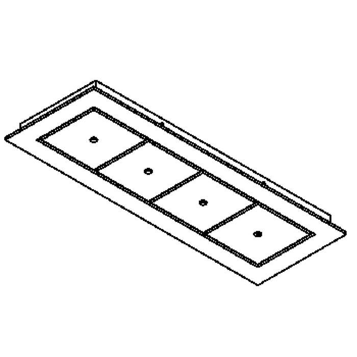 Drawing of 752.220/.. - SQUARE 230V, plafondverlichting - spots afzonderlijk te bestellen