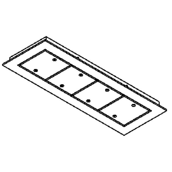 Drawing of 753.220/.. - SQUARE 230V, plafondverlichting - spots afzonderlijk te bestellen