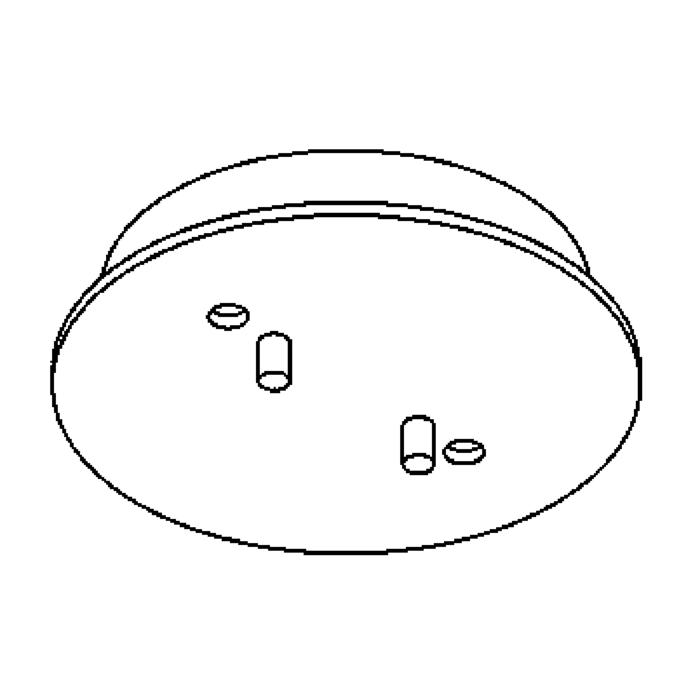 Drawing of 821/.. - RONDO BOX, ceiling light - spots to be ordered separately - with LED driver