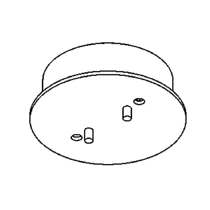Drawing of 823/.. - RONDO BOX, plafondverlichting - spots afzonderlijk te bestellen