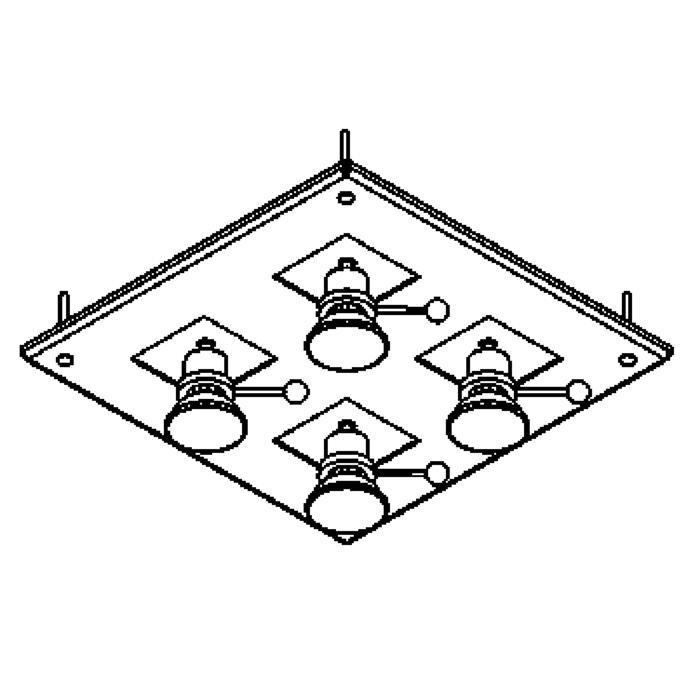 Drawing of 864A/.. - ZOOM TWIST, plafondverlichting - spots inbegrepen - met transfo
