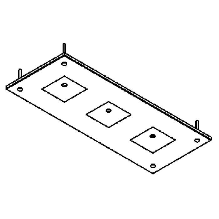 Drawing of 898.A.ZT/.. - ZOOM, plafondverlichting - spots afzonderlijk te bestellen