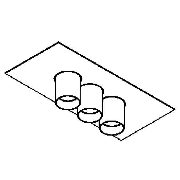 Drawing of 913/.. - TITUS 230V, opbouw plafondverlichting - vast - met glas