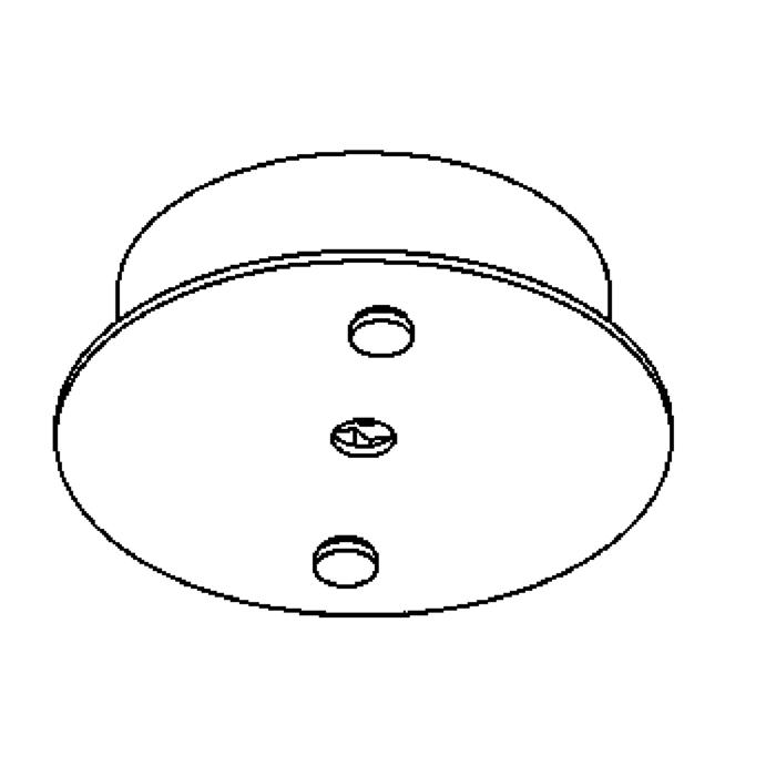 Drawing of 924A/.. - RONDO BOX, ceiling light - spot to be ordered separately