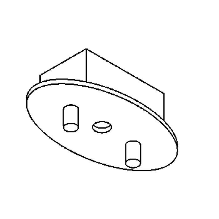 Drawing of 927/.. - OVALE BOX, plafondverlichting - geen plaats voor transfo