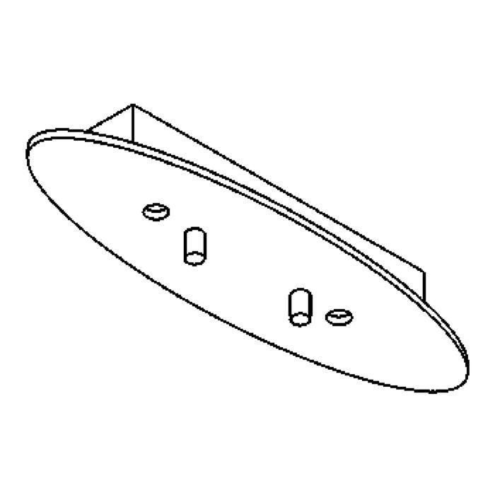 Drawing of 928/.. - OVALE BOX, plafonnier - pas de place pour transfo