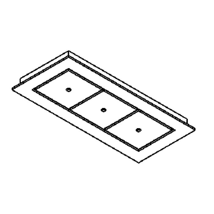 Drawing of 940.220/.. - SQUARE 230V, plafondverlichting - spots afzonderlijk te bestellen