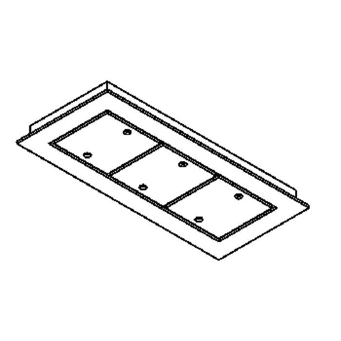 Drawing of 942.220/.. - SQUARE 230V, plafondverlichting - spots afzonderlijk te bestellen