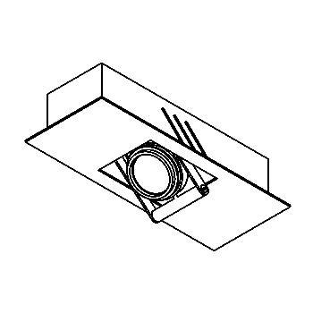 Drawing of 945.MT/.. - CAMERA UP, opbouw plafondverlichting - richtbaar - met transfo