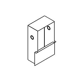 Drawing of 945B/.. - CAMERA IN BOX VT, inbouwdoos - met plaats voor transfo
