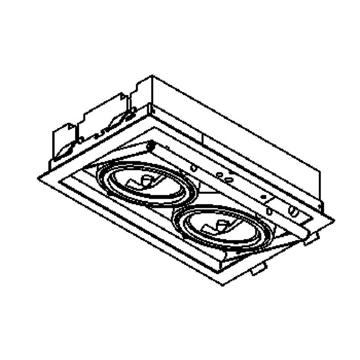 Drawing of 952/.. - SPINNER, inbouw plafondverlichting - vierkant - richtbaar - zonder transfo