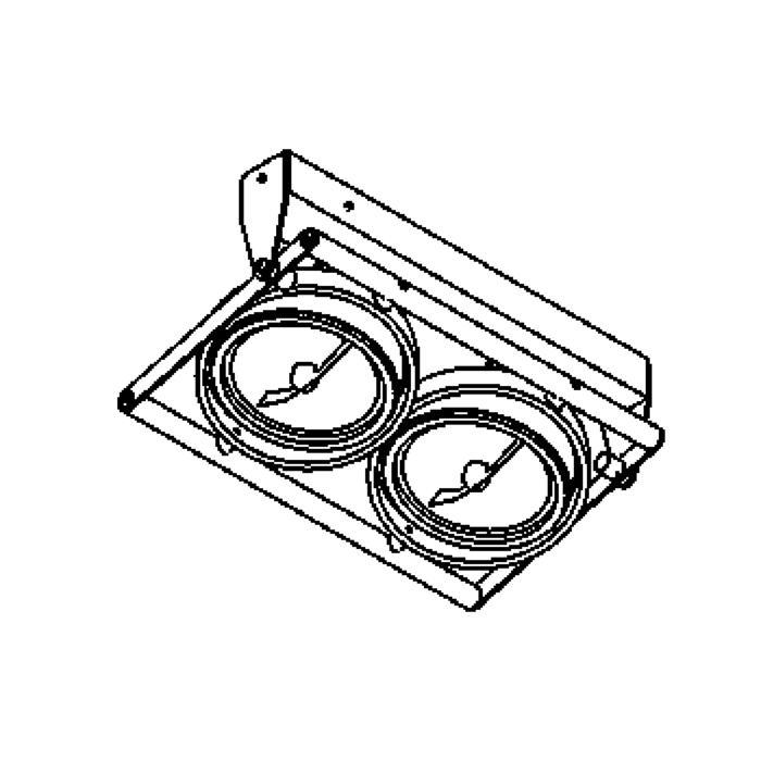 Drawing of 953/.. - OPERA, opbouw plafond -of wandlicht - richtbaar - met transfo
