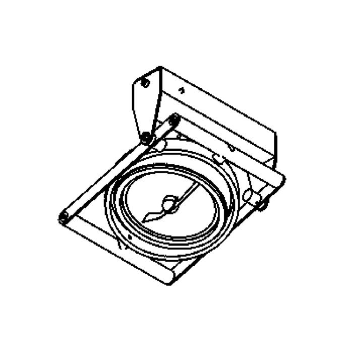 Drawing of 954/.. - OPERA, built-up ceiling or wall light - directional - with transformer