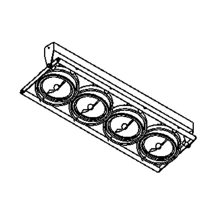Drawing of 956/.. - OPERA, opbouw plafond -of wandlicht - richtbaar - met transfo