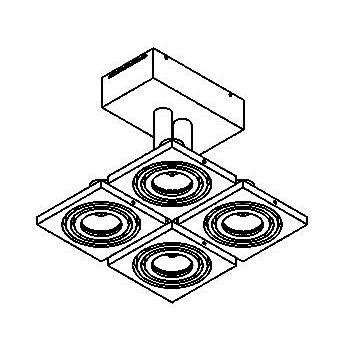 Drawing of 972/.. - CALYPSO, plafondverlichting - richtbaar - met transfo