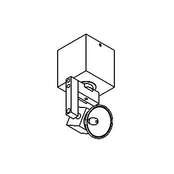 Drawing of 978/.. - CUBIC, opbouw plafondverlichting - richtbaar - met transfo