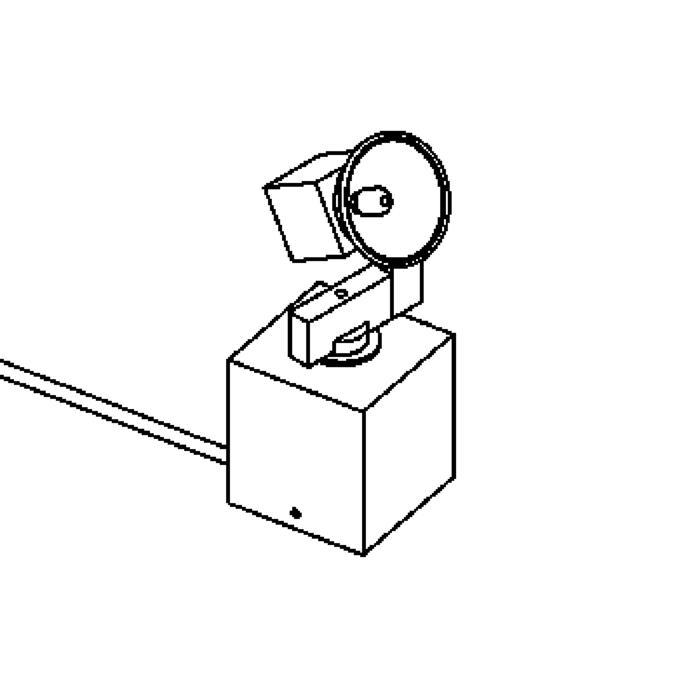 Drawing of 978T/.. - CUBIC, tafellamp - richtbaar - met schakelaar - snoer en stekker - met transfo