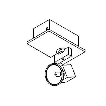 Drawing of 981/.. - CUBIC, opbouw plafondverlichting - richtbaar - met transfo
