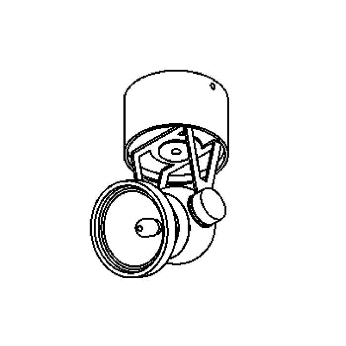 Drawing of 985.A.12V/.. - RINGO, plafondverlichting - richtbaar - zonder transfo