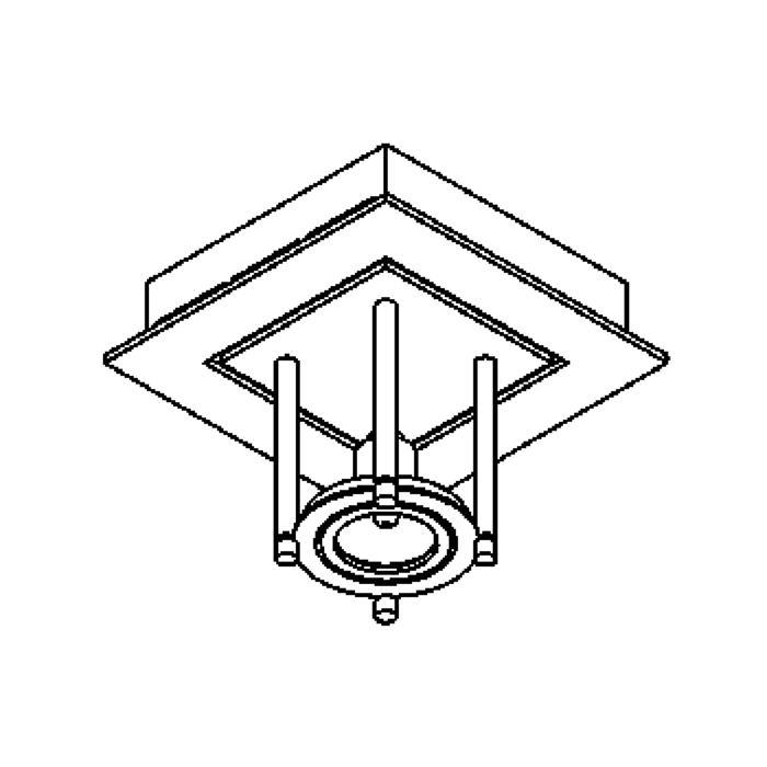 Drawing of 991/.. - SQUARE SALSA, plafondverlichting - richtbaar - met transfo