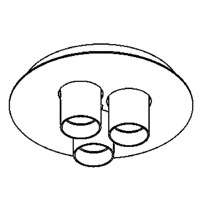 Drawing of 997/.. - TITUS Round, opbouw plafondverlichting - vast - met glas