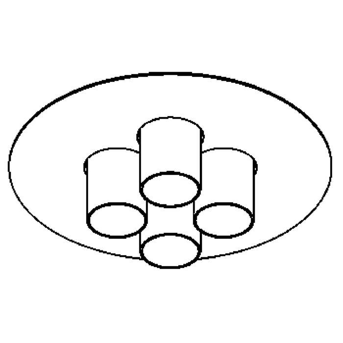 Drawing of 998/.. - TITUS Round, plafondverlichting